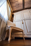 Interior of luxury vintage bedroom Royalty Free Stock Image