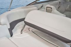 Interior of luxury yacht. royalty free stock images