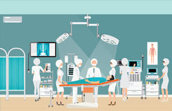 Interior médico da sala de operação da cirurgia do hospital Imagens de Stock Royalty Free