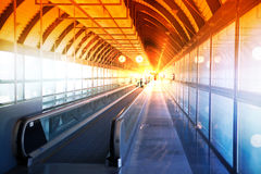 Interior of Madrid airport, departure waiting aria Royalty Free Stock Photos