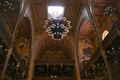 Interior magnífico de la gran sinagoga, Budapest Imagen de archivo
