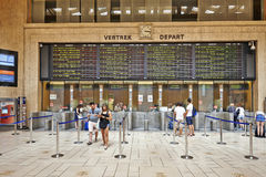 Interior of the main lobby of Brussels Central Train Station Royalty Free Stock Photography