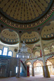 The interior of the main mosque in the town of Side Royalty Free Stock Photos