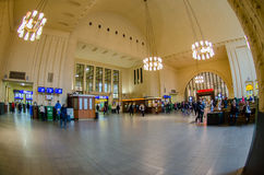 Interior of Main rail station in Helsinky Royalty Free Stock Photos