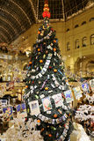 Interior Main Universal Store (GUM) in the Christmas (New Year) holidays, Red Square, Moscow, Russia Stock Image