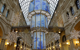 Interior of the Main Universal Store (GUM)-Moscow, Russia Royalty Free Stock Images