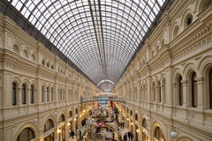 Interior of the Main Universal Store (GUM)-Moscow, Russia Stock Images