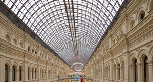 Interior of the Main Universal Store (GUM) on the Red Square in Moscow, Russia Royalty Free Stock Photos