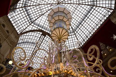 Interior of the Main Universal Store (GUM) on the Red Square in Moscow, Russia. Royalty Free Stock Images