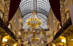 Interior of the Main Universal Store (GUM) on the Red Square in Moscow, Russia. Stock Photo