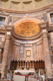 Interior of Majestic Pantheon in Rome, Italy Royalty Free Stock Photos