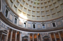 Interior of Majestic Pantheon in Rome, Italy Stock Photos