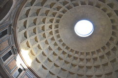 Interior of Majestic Pantheon in Rome, Italy Royalty Free Stock Photography
