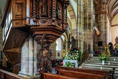 Interior majestuoso de la Abadía-iglesia de San Pedro y de Saint Paul Fotografía de archivo