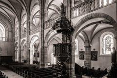 Interior majestuoso de la Abadía-iglesia de San Pedro y de Saint Paul Imágenes de archivo libres de regalías