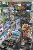 Interior of a major shopping mall in Bangkok. Royalty Free Stock Photos