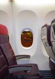 Interior malaio de Boeing 737 das linhas aéreas Imagens de Stock