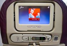 Interior malaio de Boeing 737 das linhas aéreas Fotografia de Stock