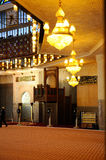 Interior of Malaysia National Mosque aka Masjid Negara Royalty Free Stock Image