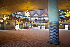 Interior of malaysian mosque Stock Image