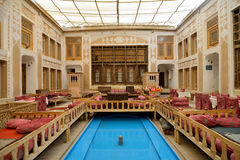 Interior of Malek-o-Tojjar hotel in Yazd Stock Photography