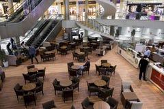 Interior of mall in Erbil,Iraq. Erbil, Iraq - March 7, 2016:Coffee shop inside Mall in Erbil city Stock Photos