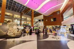 Interior of the 360 Mall in Kuwait Royalty Free Stock Photos