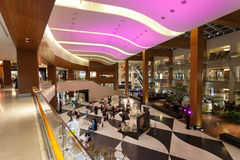 Interior of the 360 Mall in Kuwait. Interior of the 360 Mall in Al Zahra, Kuwait. 360 is the third biggest mall in Kuwait. December 10, 2014 in Kuwait, Middle Royalty Free Stock Image
