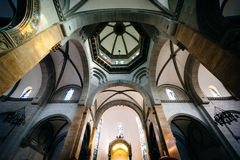 The interior of the Manila Cathedral, in Intramuros, Manila, The Royalty Free Stock Photos