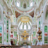 Interior of Mannheim Jesuit Church, Germany Stock Image