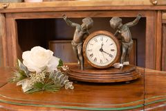 Interior Mantel Clock Royalty Free Stock Images