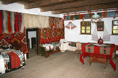 Interior in Maramures - Romania. Rustic interior in an old house from Maramures - Romania Stock Photography