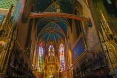 Interior maravilhoso da igreja de St Francis de Assisi em Krakow, Pol?nia fotografia de stock royalty free