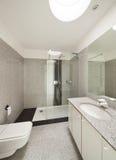 Interior, marble bathroom Royalty Free Stock Photos