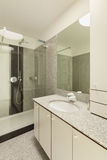 Interior, marble bathroom Stock Photos