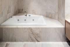 Interior,  marble bathroom Stock Images