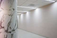 Interior Marble Stone Column In Empty Room Royalty Free Stock Images