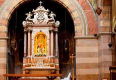 Interior of the Marian shrine, Barbano. Grado. Italy stock images