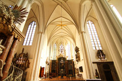 Interior of the Marienkirche in Berlin, Germany Stock Images