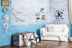 Interior in maritime style Stock Photography