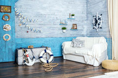 Interior in maritime style Royalty Free Stock Images