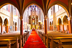 Interior of the Marktkirche (Market Church) in Wiesbaden Royalty Free Stock Photo