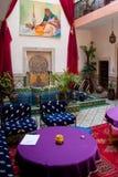 Interior, Marrakech. Interior design of a riad in Marrakech, Morocco Stock Image
