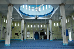 Interior of Masjid Jamek Bandar Mersing Stock Photos
