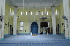 Interior of Masjid Jamek Bandar Mersing Stock Image