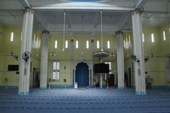 Interior of Masjid Jamek Bandar Mersing Stock Photos