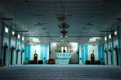 Interior of Masjid Jamek Dato Bentara Luar in Batu Pahat, Johor, Malaysia. BATU PAHAT, MALAYSIA – JANUARY, 2014: Masjid Jamek Dato Bentara Luar is a old mosque Royalty Free Stock Image
