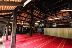 Interior of Masjid Kampung Laut at Nilam Puri Kelantan, Malaysia Royalty Free Stock Image