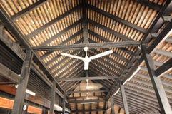 Interior of Masjid Kampung Laut at Nilam Puri Kelantan, Malaysia Royalty Free Stock Images