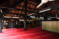 Interior of Masjid Kampung Laut in Nilam Puri Kelantan Royalty Free Stock Photo